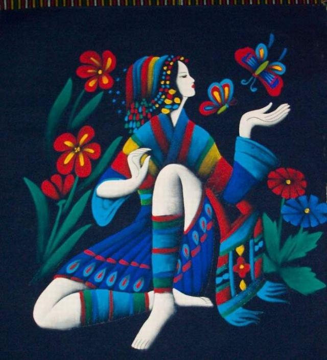 傣族蜡染工艺